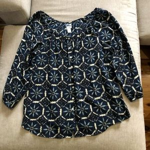 Lucky boho top size large.